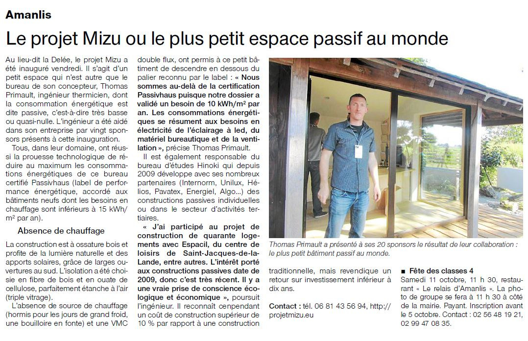 OUEST FRANCE SEPT 2014